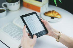 books on an e-reader